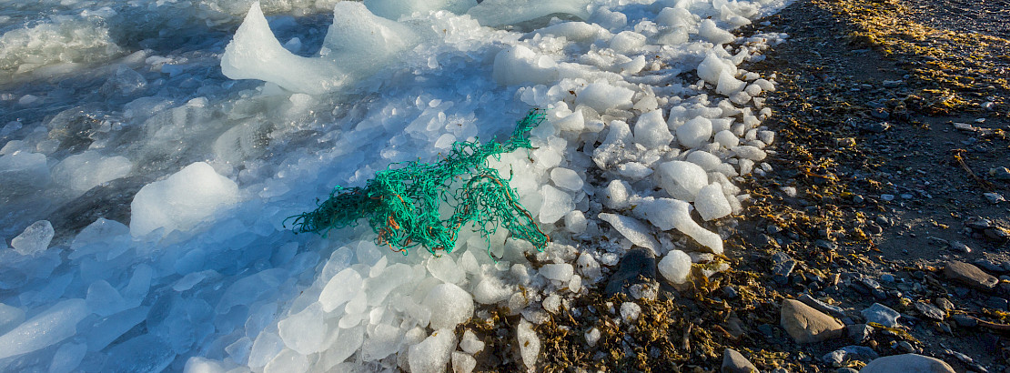 Plastic litter on an Arctic coast. Photo: iStock/sodar99